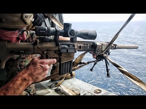 Marine Corps Scout Snipers • Aerial Sniper Training