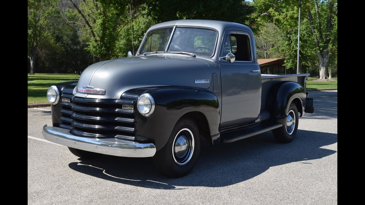SOLD: 1950 Chevy Thriftmaster Pickup, CA - YouTube