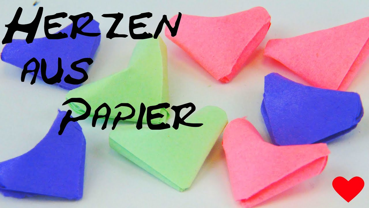 origami herz falten aus papier diy anleitung origami heart folding instructions tutorial youtube. Black Bedroom Furniture Sets. Home Design Ideas