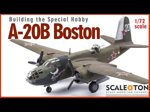 A-20B Boston Special Hobby 1/72 Scale Model Aircraft