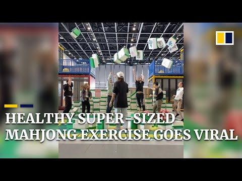 Healthy super-sized mahjong exercise goes viral online in China