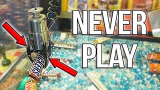 NEVER PLAY THIS CHOCOLATE CANDY CLAW MACHINE!! | Arcade Games