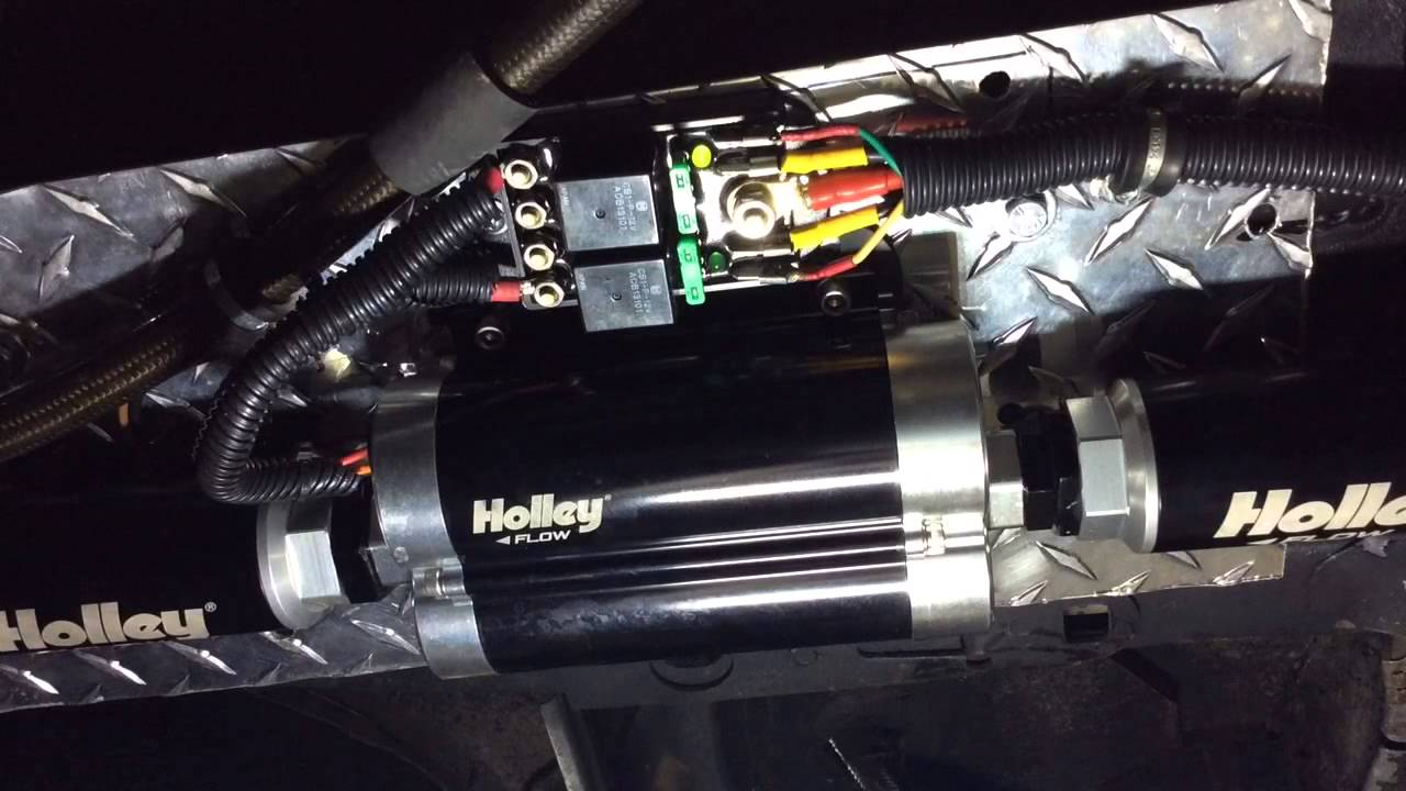 110 Fan Wiring Diagram Holley 1800 Fuel Pump Running Youtube