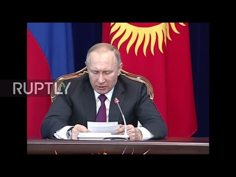 Kyrgyzstan: Putin stresses value of stability in post-Soviet space in Bishkek