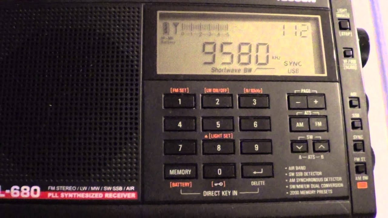 China Radio On 9580 Khz Tecsun PL 680 And DX The Cat
