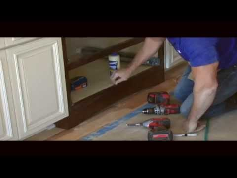 How to install a Valance (SKIRT) on your cabinets!