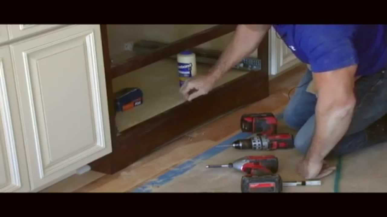 How to install a Valance (SKIRT) on your cabinets! - YouTube