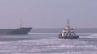 Frozen China: Icy build-up creates a sea of trouble in China's Bohai Gulf