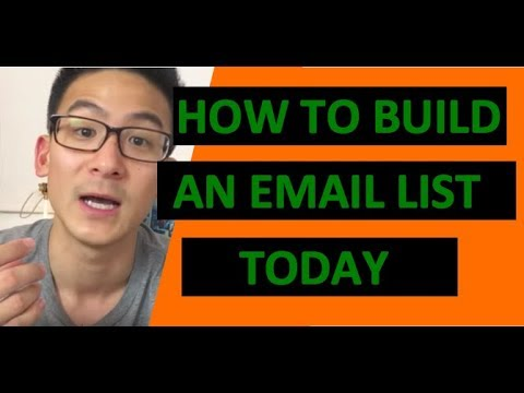 How To Build An Email List For Affiliate Marketing – Affiliate Marketing Training
