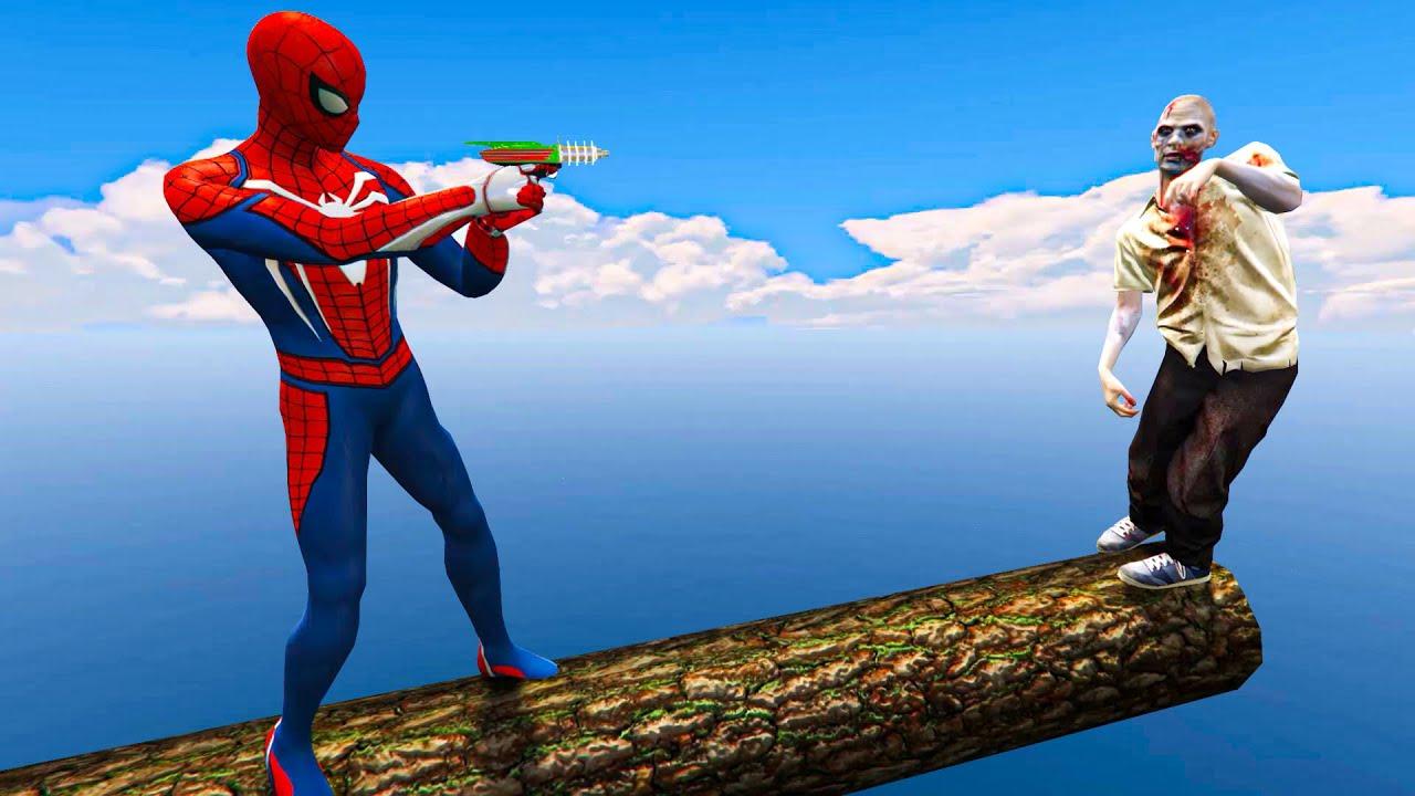 Spiderman Aur Zombie ki Funny Moment - (GTA 5 Euphoria Physics, Ragdolls, Fails, Funny Moments)