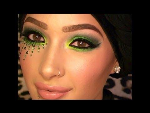 Swarovski Green Smokey Eye Makeup Tutorial :) - YouTube