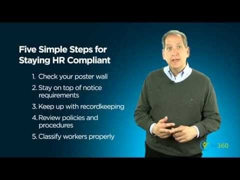 Five Simple Steps for Staying HR Compliant