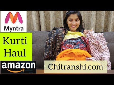 Myntra Kurti Haul | Kurti Haul | Try On Haul | Amazon Kurti Haul