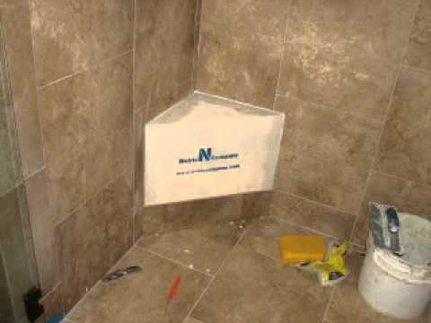Adding a Noble Bench to an Existing Shower - YouTube