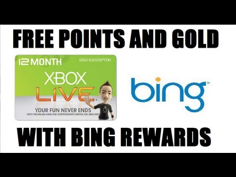 Xbox live accounts as well earn bing rewards search free on xbox live