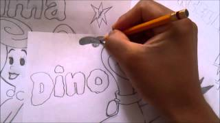 THE FLINTSTONE How to draw a DINO 1#BOCETO  X db