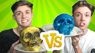 GUMMY FOOD vs REAL FOOD CHALLENGE 3! (GROSS EDITION)