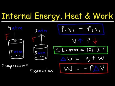 Internal Energy, Heat, and Work   Thermodynamics, Pressure & Volume, Chemistry Problems