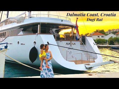 DALMATIA COAST IN CROATIA AND A TOUR OF THE BEAUTIFUL TOWN DUGI RAT   LAST SUMMER 2019