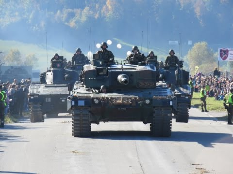 Swiss Alps, Thun meets Army Defile 2016, Steelparade, Tank, swiss, Switzerland