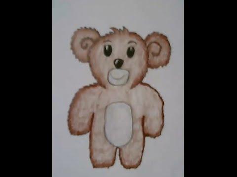 หมีใจดี สอนวาดรูปการ์ตูนน่ารักๆ ง่ายๆ สอนวาดรูประบายสี