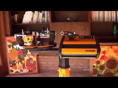 Protennis Rhapso stringing machine...it's art!