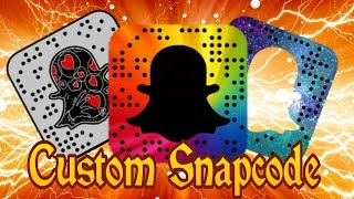 How to create your own custom made snapchat code