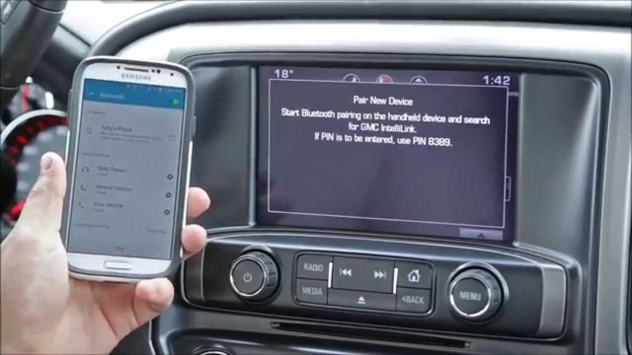 Gmc Intellilink System Pairing Your Phone Youtube