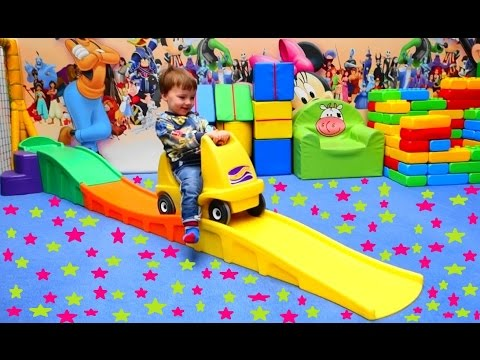 Indoor Playground kids cars and slides with balls FUNNY PLAYGROUND FOR BABYS