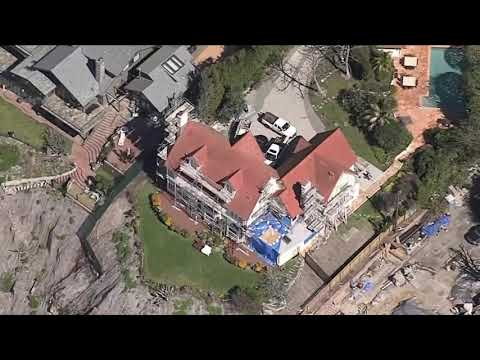 Actor Anthony Hopkins House Just Feet From Falling Off Of Cliff