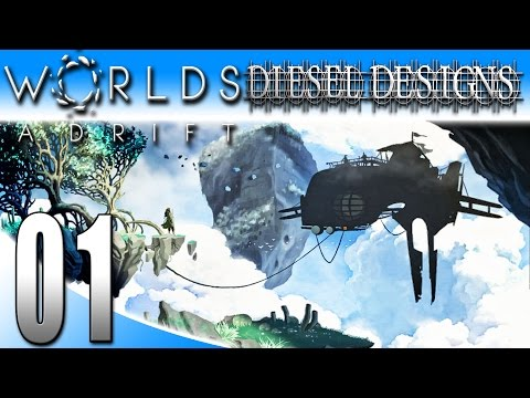Worlds Adrift Alpha Gameplay :EP1: Salvage, Craft, and Build a Ship! (PC MMO SandBox HD)