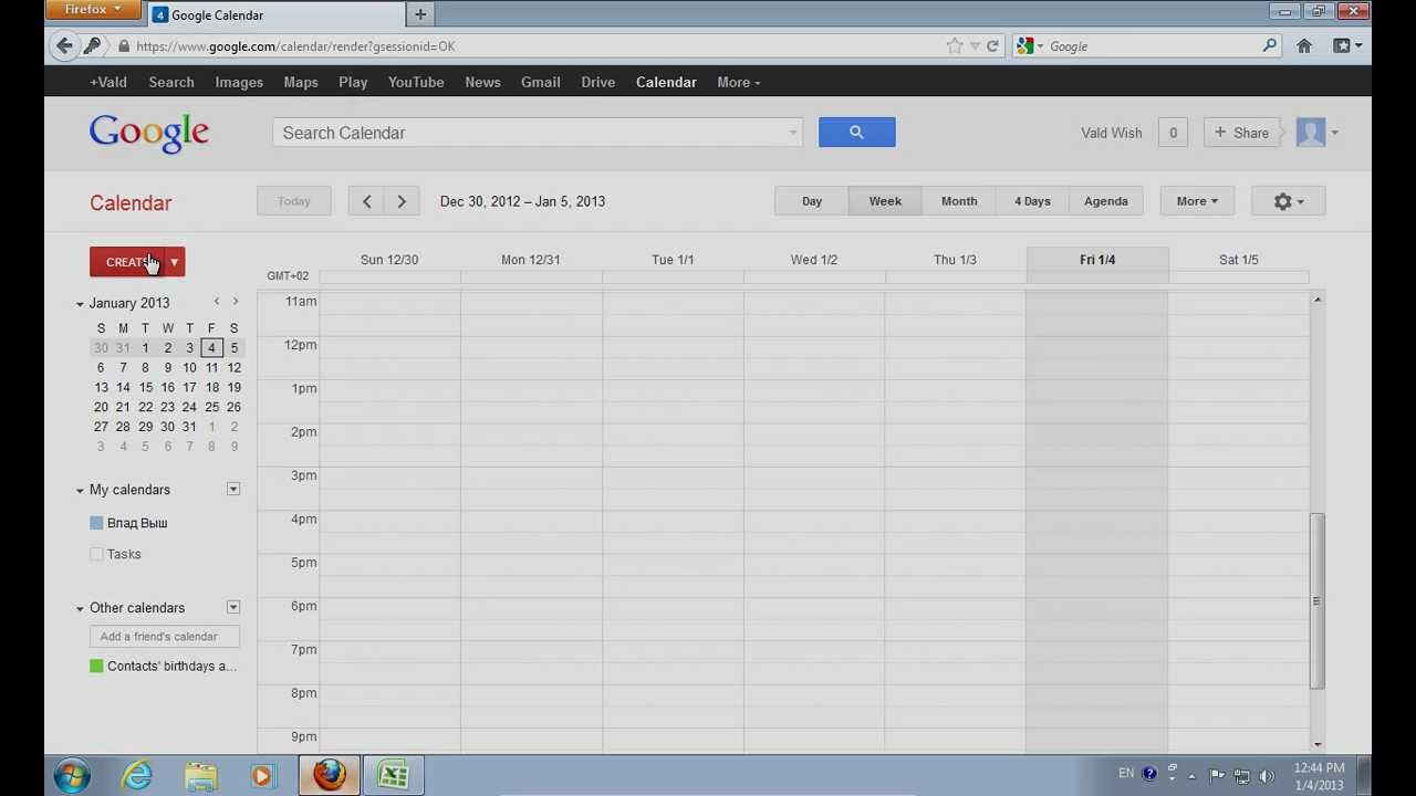 How to Export Excel to Google Calendar - YouTube