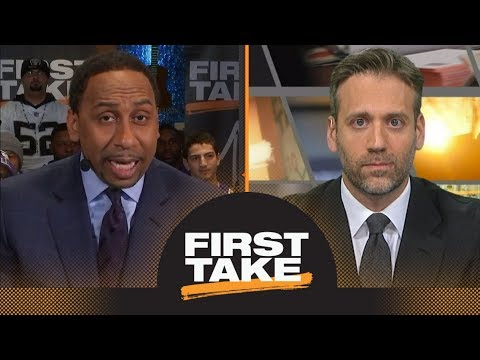 Stephen A. and Max sound off on Falcons owner for problem with Patriots' rings | First Take | ESPN