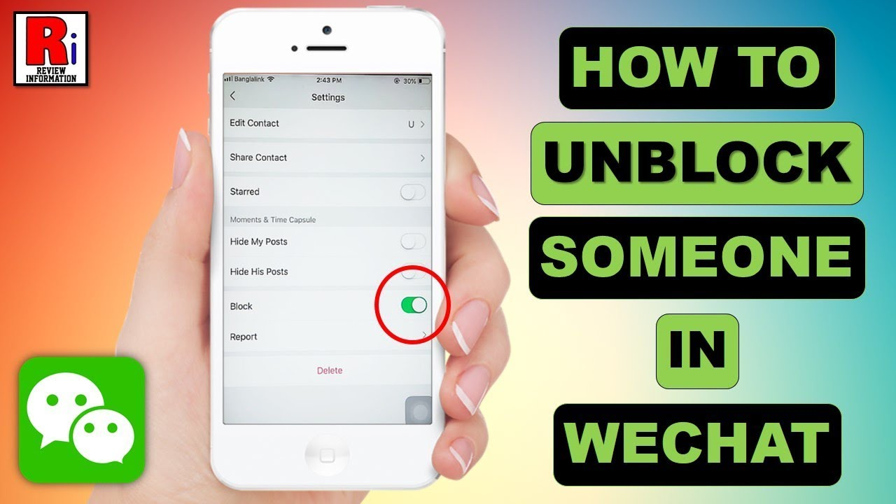 HOW TO UNBLOCK SOMEONE IN WECHAT