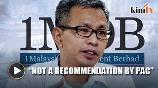 Pua accuses Putrajaya of bailing out 1MDB over RM3.2b debt