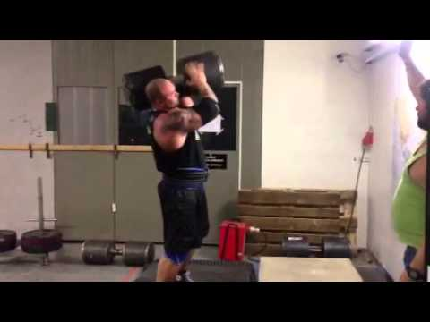 Thor Bjornsson - DB training 116kg for reps