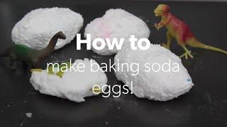 HOW TO - Make baking soda eggs!
