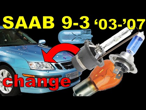 Saab 9-3 Headlight Bulb Replacement WITHOUT Removing Bumper!