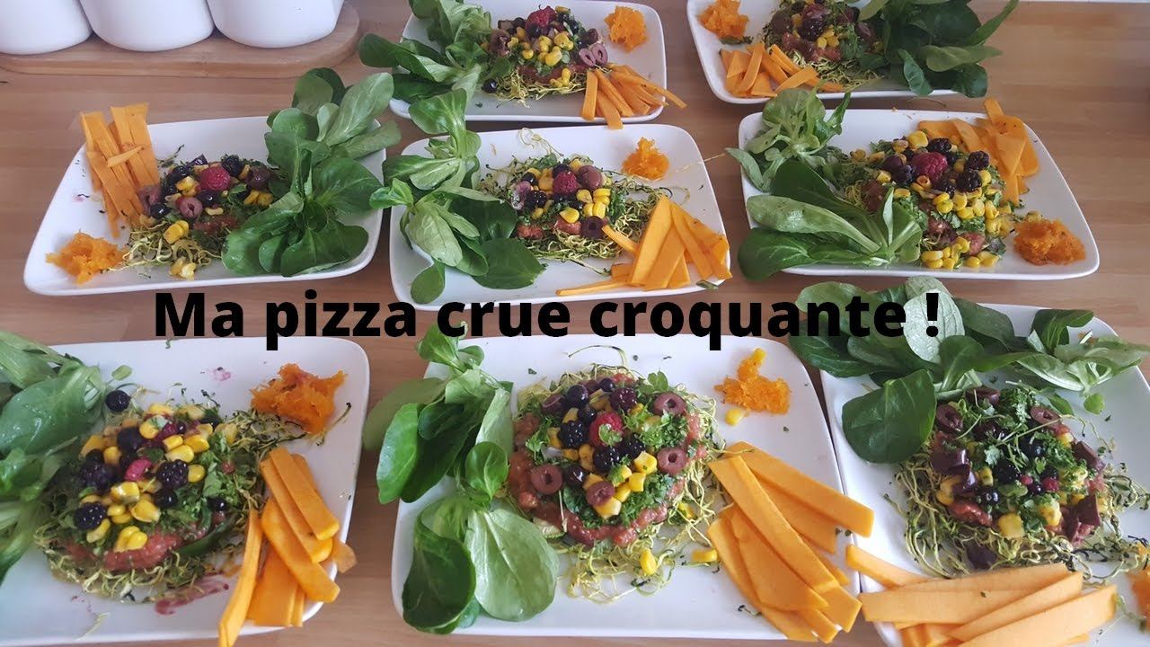 ma pizza crue croquante - youtube