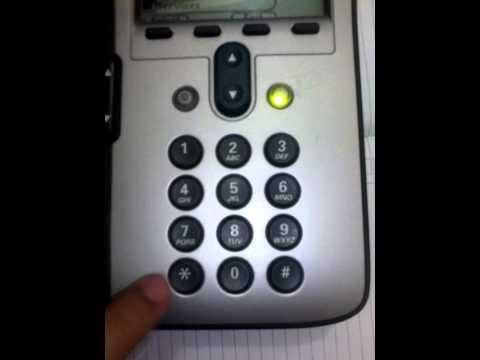 How to reset Cisco IP Phone 7912