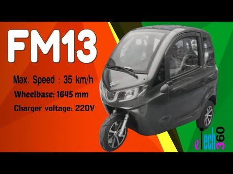 FM13 Electric Three-wheeler//Full Specs//Interior And Exterior