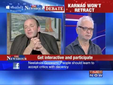 The Newshour Debate: Karnad challenges Naipaul - Part 1 of 2