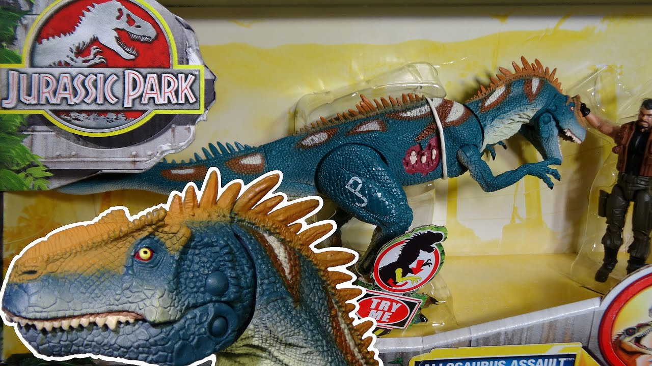 Opening jurassic park allosaurus assault dino showdown youtube - Dinosaure de jurassic park ...