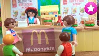 Playmobil en español 38# lío en el mcdonalds los playmobil viven aquí