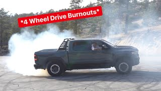 FIRST Ever BURNOUT In A RAM TRX Ft Hellooo I'm Jensen! *Terrifying*