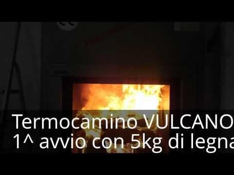termocamino vulcano 25 3 youtube