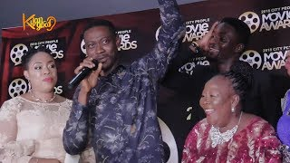 Damola Olatunji Ayo Adesanya Adedimeji Lateef   Acceptance Speech 2018 City People Movie Awards