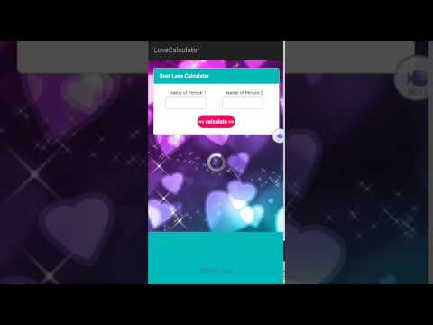 How to use Love calculator app on android ?
