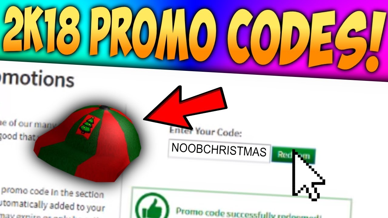 (*NEW*) ALL WORKING ROBLOX PROMO CODES (DECEMBER 2018 ...
