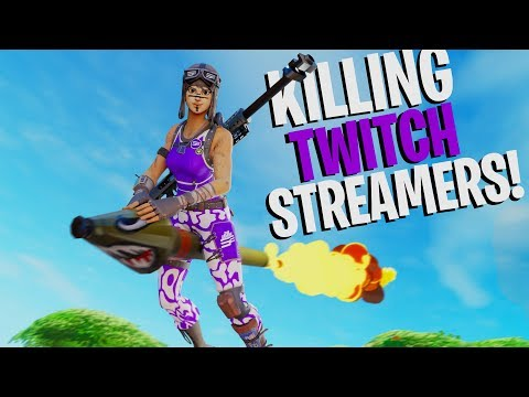 Killing Twitch Streamers #10 (with Reactions) - Fortnite Battle Royale